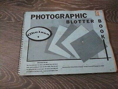 VTg CHelsea Photographic Blotter Book  for drying prints and resin coated paper