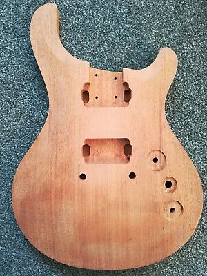 Electric Guitar Body Luthier parts prs style mahogany