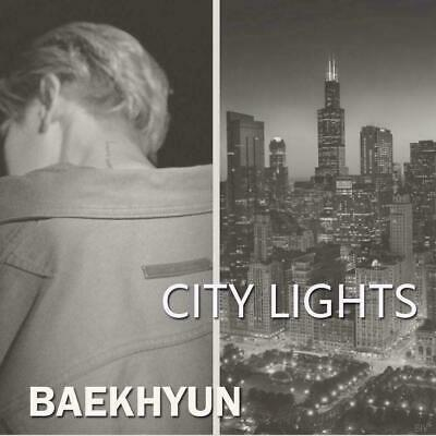 EXO Baekhyun-[City Lights]1st Mini Album (2Ver SET) CD+Poster+P.Book+P.Card+Gift