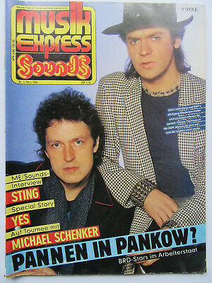 Musik Express Sounds 3/84, Sting, YES, Udo Lindenberg, Yes, Kim Wilde,