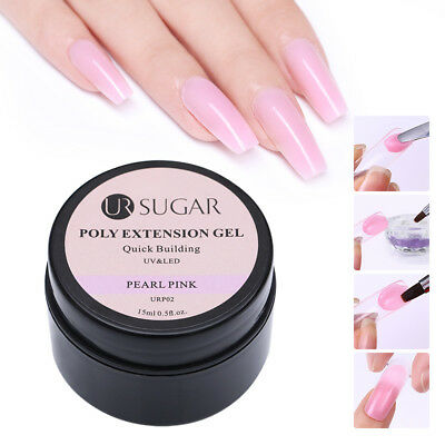 UR SUGAR 15ml Nail Poly Quick Extension UV Gel Polish Nail Art Tips Building Gel