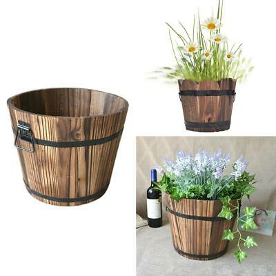 Wooden Garden Plants Flower Pots Flower Bucket Small Barrels Planter Home Decor