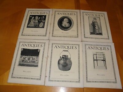 Antiques Magazine V5#1-6 Early 1924 Furniture Clocks Textiles Glassware Art FRGD