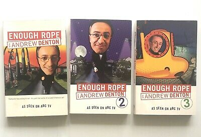 SIGNED Enough Rope By Andrew Denton Part 1, 2 And 3 Book Paperback
