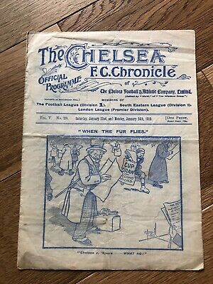 The Chelsea Chronicle Programme V Aston Villa 1910 Pre War, Very rare.