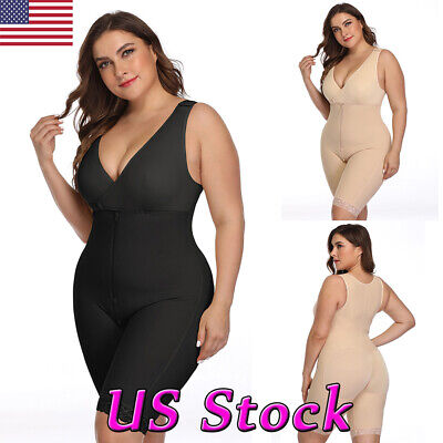 Plus Size Women Full Body Shapewear Bodysuit Firm Control Girdle Corset Shaper