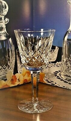 Waterford Crystal LISMORE Claret Red Wine Glass Signed 600/318.. 5 7/8""