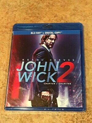 John Wick Chapter 2 (Canadian Blu-ray with USA Compatible Disc) BRAND NEW