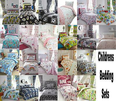 Teenage Children Kids Girls Boys Duvet Quilt Cover Bedding Or Matching Curtains