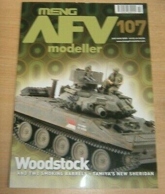 Meng AFV Modeller magazine #107 Jul/Aug 2019 Woodstock Tamiya's new Sheridan