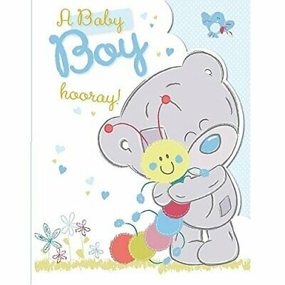 3D Holographic Mr Small Mr Men Wellcome to the World New Baby Boy Card