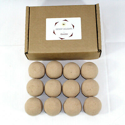 Bath Bombs reduced plastic 12 x 65g rounds Dessert delight Chocolate scented