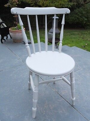 Victorian/Edwardian Chair With Penny Seat In Farrow & Ball Elephants Breath
