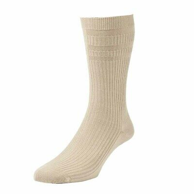2 Pair Pack HJ91 Hall MENS SOFTOP Loose Wide Top Non Elastic Cotton Rich Socks