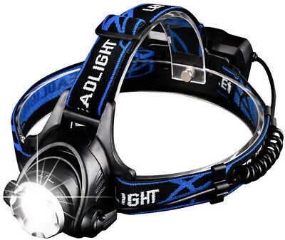 Linkax LED Headlamp Headlight USB Rechargeable LED Head Torch 3 Modes Helmet for