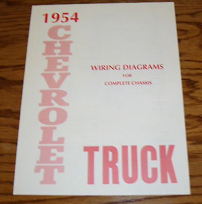 1954 chevrolet truck wiring diagram manual for complete chassis 54 chevy