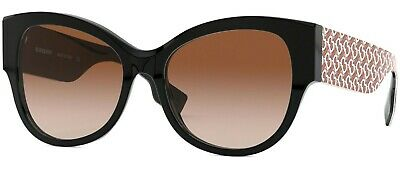 Burberry 4294 54 382013 Black Red Brown Gradient Lenses Sunglasses Nero Sole