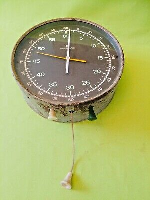 Rare old antique vintage JUNGHANS Photography darkroom wall mounted timer clock