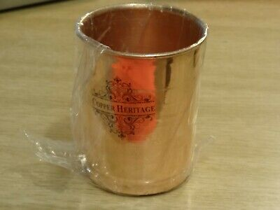 Copper Glass Cup Drinking Beaker Water Benificial Health Digestive System Ayurve