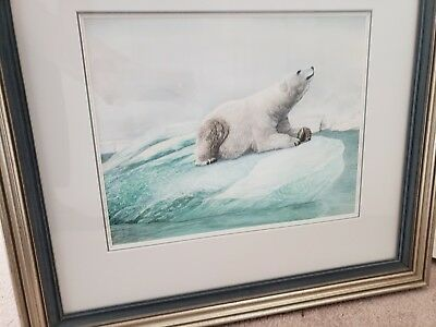 "Original Mel Dobson watercolor  ""Polar Bear"" 1983"