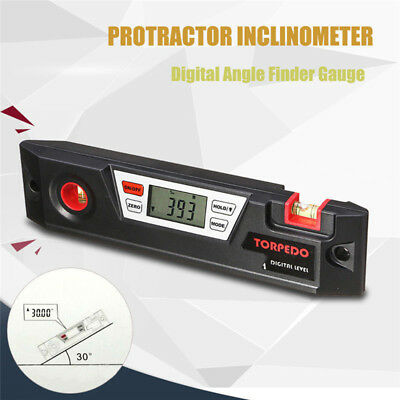 LCD Digital Angle Finder Gauge Bevel Box Protractor Inclinometer Spirit Level le