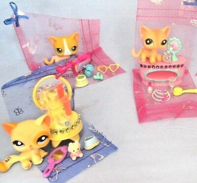 Littlest Pet Shop Lot 7 Collar Skirt Random Dog Accessories Lps CAT NOT INCLUDED