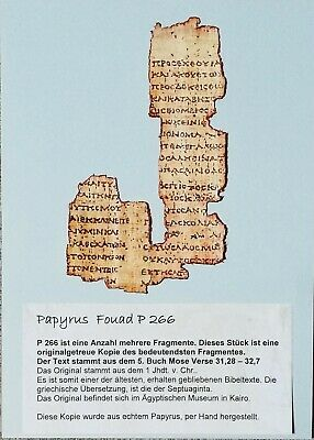Papyrus P 266 Bibel 5. Buch Mose Septuaginta  Bible ancient replic