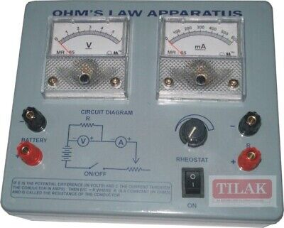 Ohms Law Apparatus Educational Best Quality Free Shipping