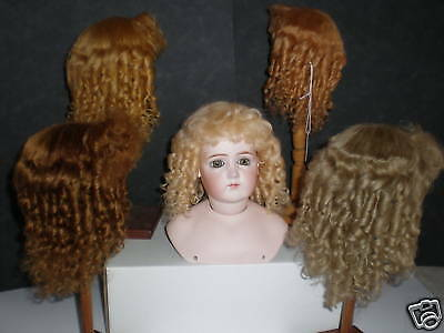 Wig Mohair for Antique Doll -t5 (25,5cm) Made in France