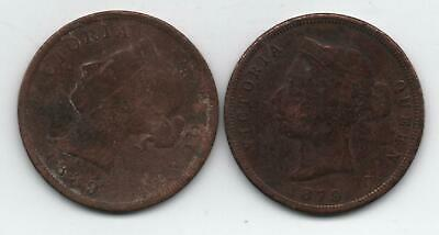 1879 and 1889 cyprus one piastre