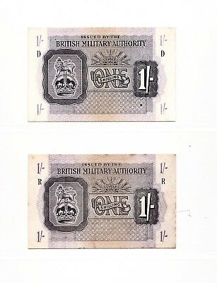 British Military Authority Collection 28 notes  - Superb Offer