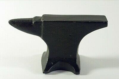 Small Metal Anvil Painted Black, Jeweler Making ? Paperweight ?