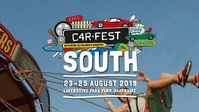 Family Carfest South 2019 Tickets Weekend Camping 2 Adults 2 Children 23-25 Aug