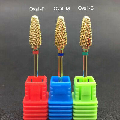 """3/32"""" Shank Metal Burr Nail Drill Bits Gold for Electric Nail Machine Tools"""
