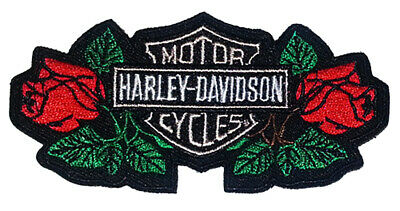 Harley Davidson Motorcycles Text Sew on Iron on Patch Badge