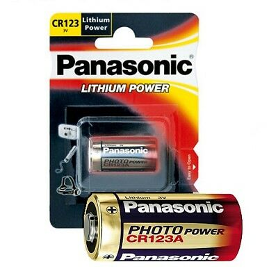 20x Pile Photo de Panasonic CR123A Piles de Photos Lithium CR123 Blister