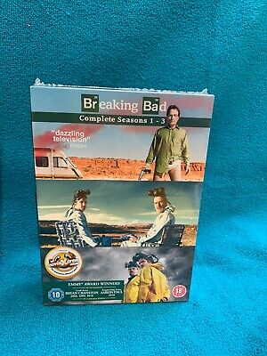 "Breaking Bad "" The Complete Series 1-3 Dvd Set "" Brand New & Sealed"