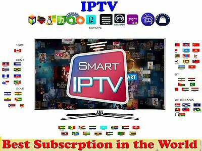 Iptv Subscription 1 Year +13000 World Channels Usa Canada Latino India Europe