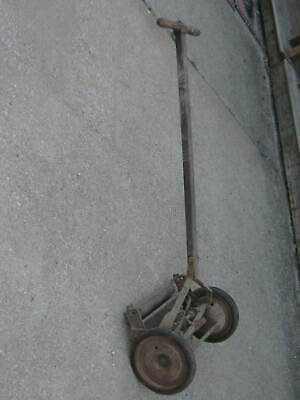 Original Antique Vintage Primitive Craftsman Ball Bearing Reel Push Lawn Mower