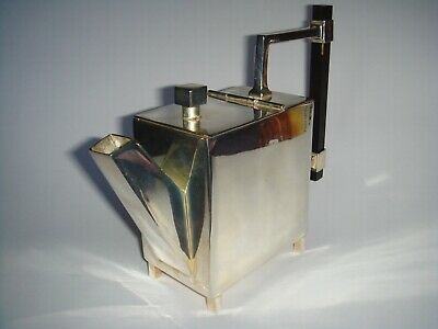 Very Handsome Art Deco Style , Christopher Dresser Inspired Silver Plated Teapot