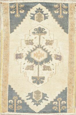 2x3 Vintage Oushak Turkish Oriental Area Rug Geometric Hand-Knotted MUTED Carpet