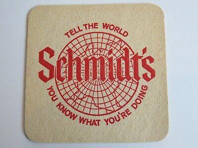 Vintage Beer Bar Coaster: C. Schmidt & Sons Brewery, Philadelphia, PENNSYLVANIA