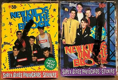 New Kids on the Block Topps Wax Boxes Lot of 2 - Series 1 & 2 - 1989 1990 NKOTB
