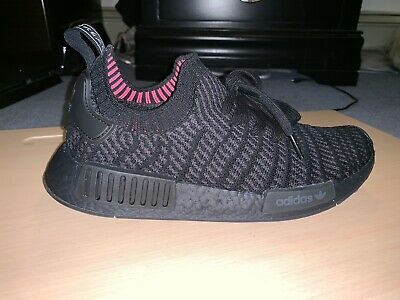 best loved 0e040 5c14e MENS ADIDAS NMD R1 STLT Primeknit Boost PK Size 8 Triple Black CQ2391  Pre-Owned
