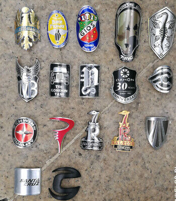 Alloy Head Badge Decals Stickers FOR BMX Bicycle MTB Bike Frame Fixed Gear Tube