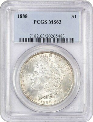 1888 $1 PCGS MS63 - Morgan Silver Dollar