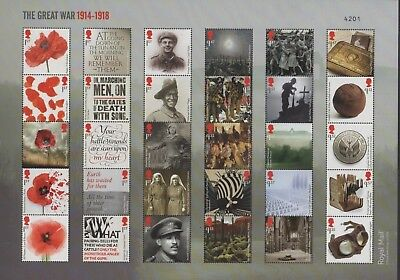 Gb Great War  2018 Ww1 Composite Sheet - Special Limited Edition Of 7,500 Sale