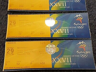 Set Of Sydney Olympic Games 2000 entry tickets