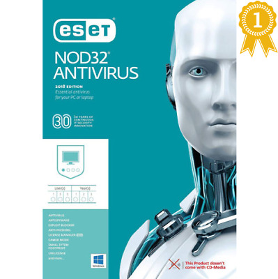 ✔️✔️ ESET NOD32 Antivirus 2019 1 PC - 2 Years - Instant deliver ✔️✔️