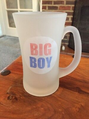 Frosted Glass Big Boy Pint Glass
